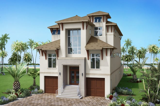 The Sardinia neighborhood offers Beach Houses like this model underway by Seagate Development.