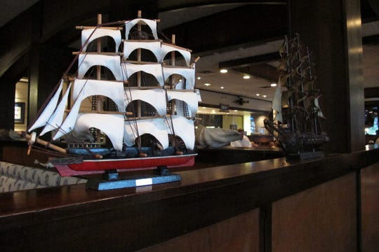 Nautical decor at The Pearl Steak & Seafood Restaurant in North Naples.