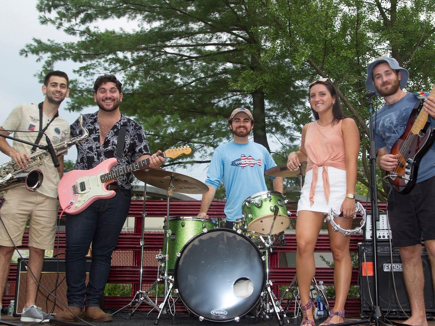 Band DASG. Paramus National Night Out 2018 behind Paramus Library. 08/07/2018