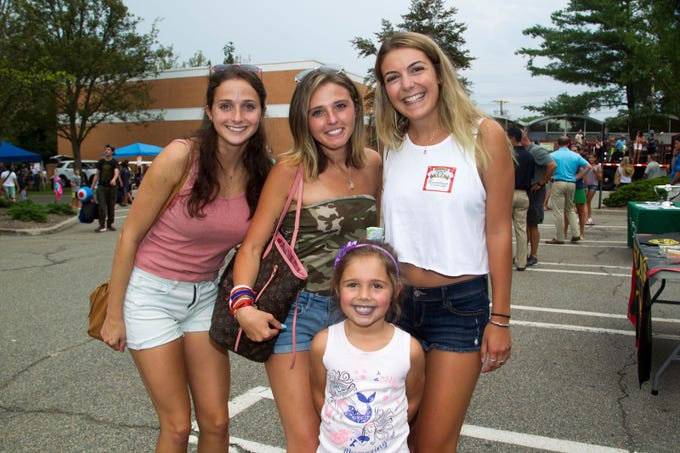 Lindsey, Courtney, Siana, Tori. Paramus National Night Out 2018 behind Paramus Library. 08/07/2018