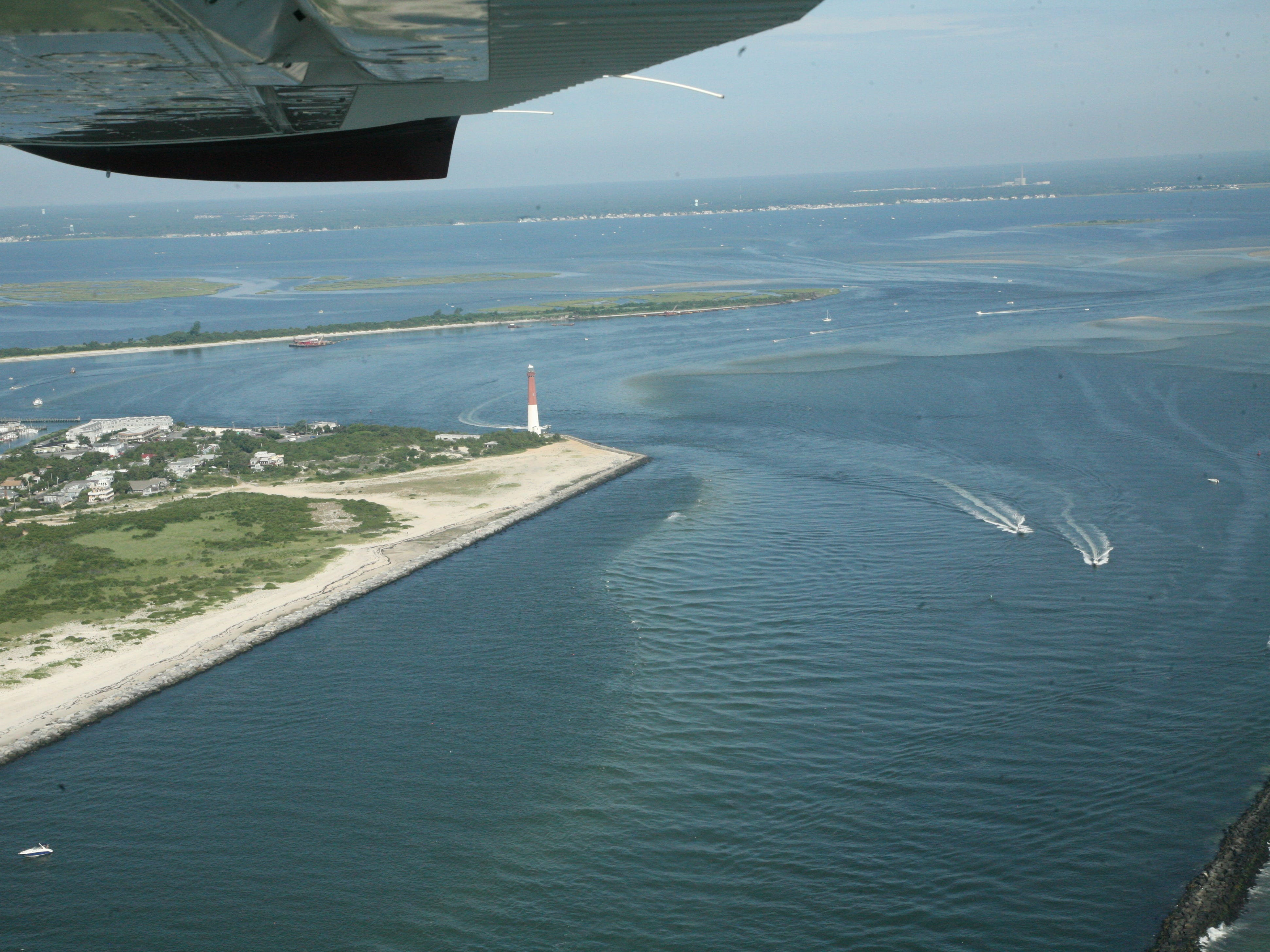Barnegat Lighthouse and Barnegat Inlet