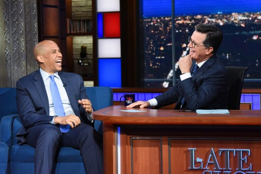 Cory Booker on 'The Late Show With Stephen Colbert'