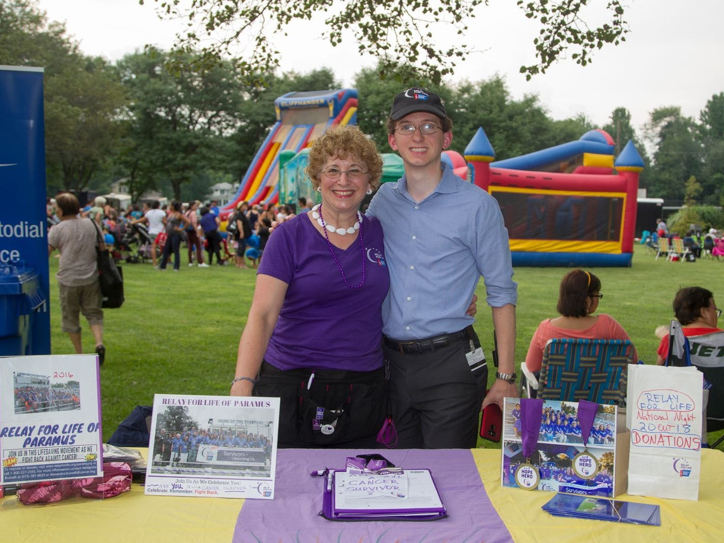 Relay for Life - Danielle Manis and David Manis. Paramus National Night Out 2018 behind Paramus Library. 08/07/2018