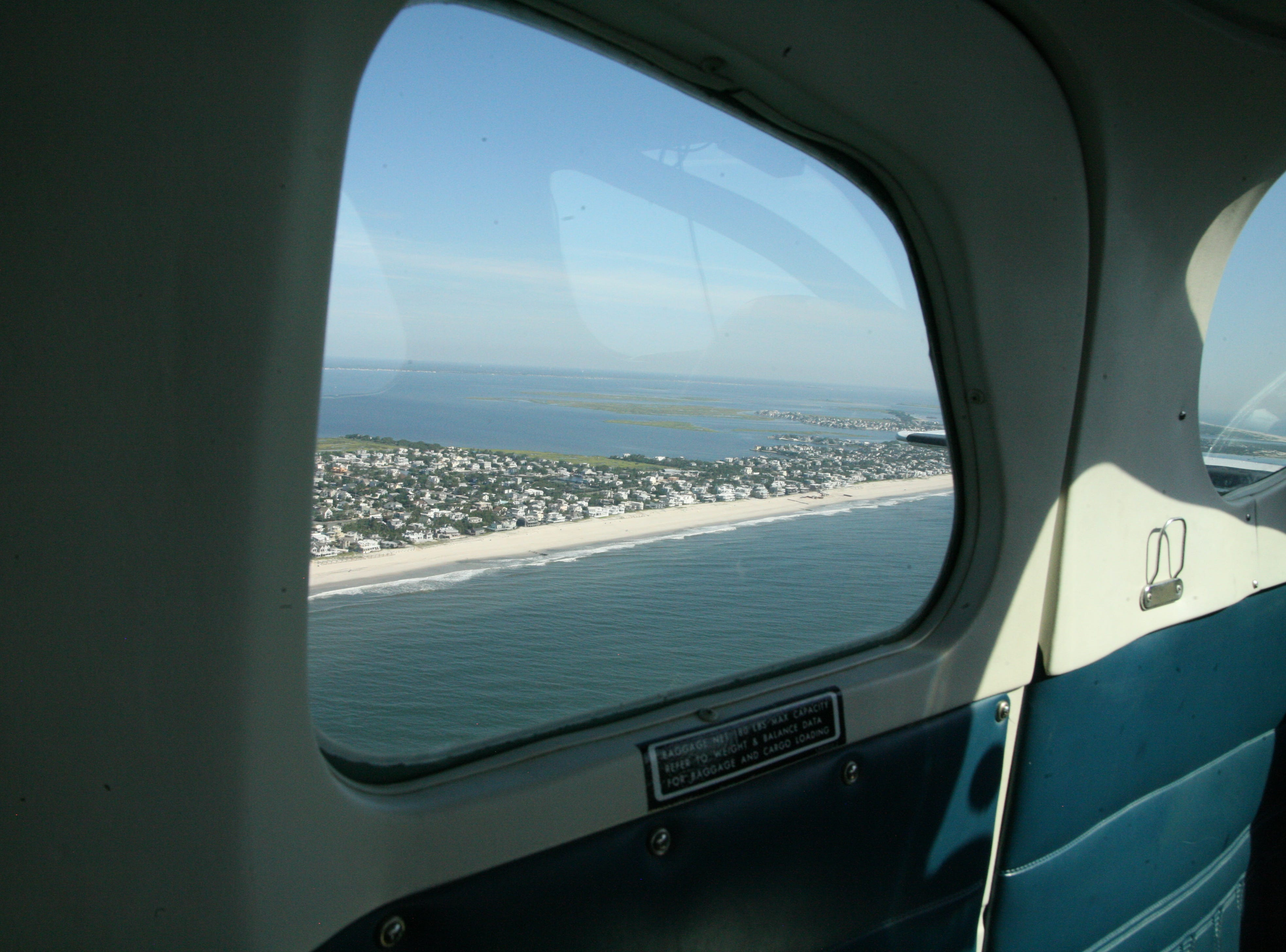 The state Department of Environmental Protection uses a Cessna to make daily aerial surveillance flights along the Jersey Shore looking for oil sheens, floatables or other  water quality hazards.