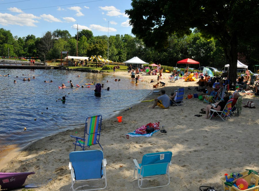 Lake Shawnee Community Day 2012 culminated at the beach.