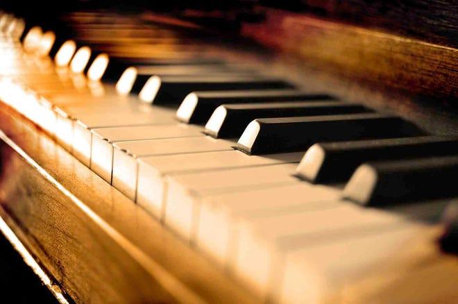 A rustic piano.