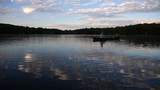 Joan LaDuke fishing on Lake Gerard in Hardyston where she has a home on Saturday, July 21, 2018.