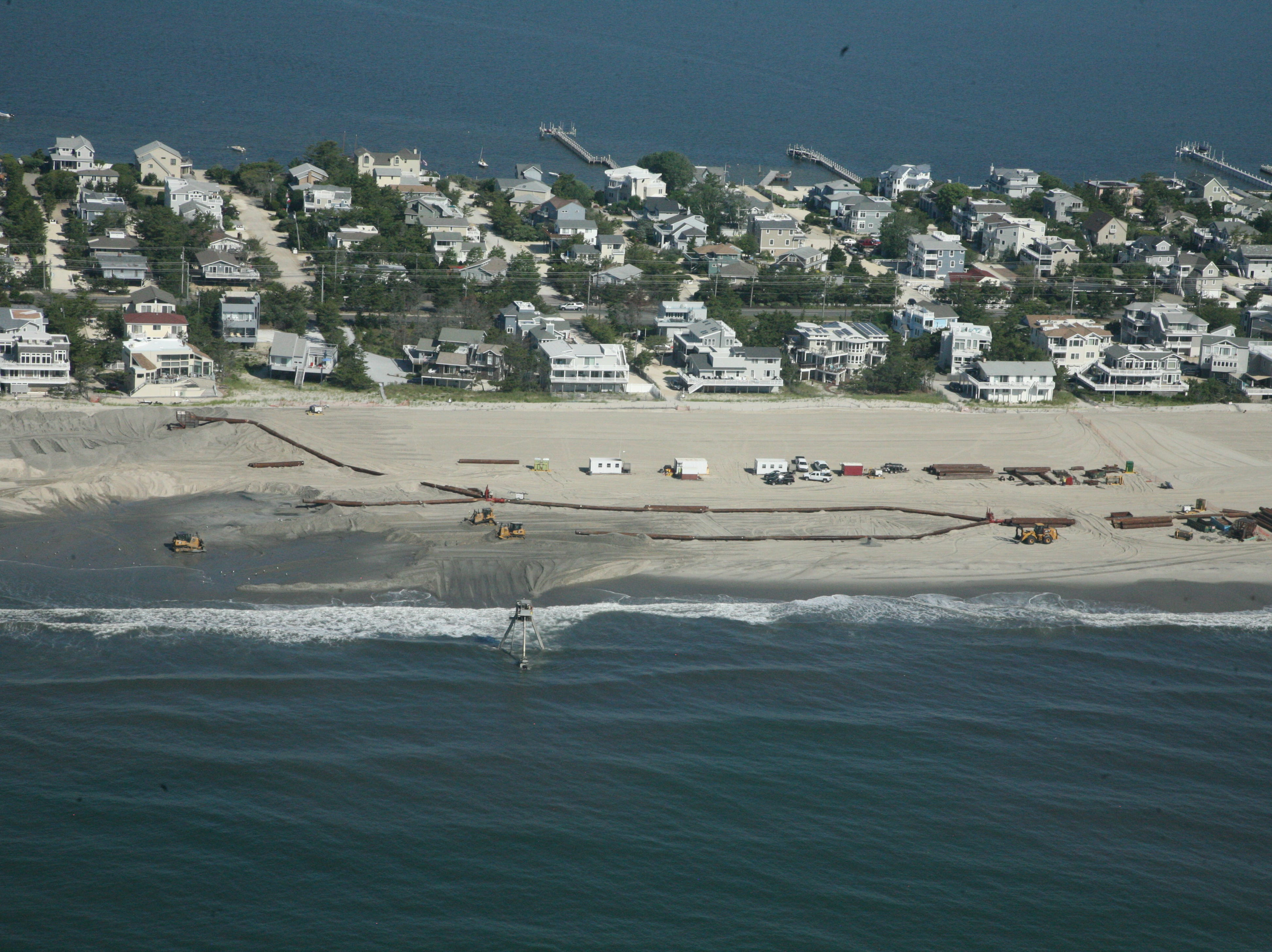 Beach replenishment on Long Beach Island