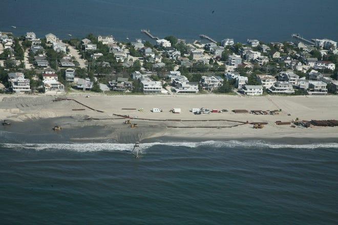 Beach replenishment on Long Beach Island