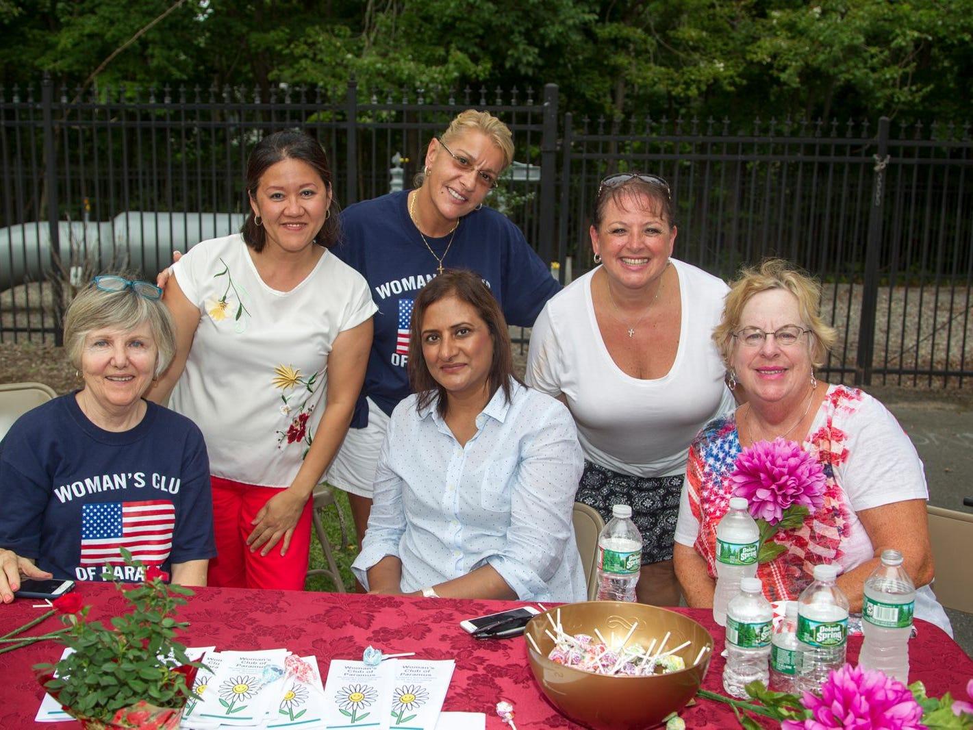 Womens Club of Paramus - Carol Cameron, Annie Mahmood, Susan Byrne, Lisa Corrado, Analiza Deleon. Paramus National Night Out 2018 behind Paramus Library. 08/07/2018
