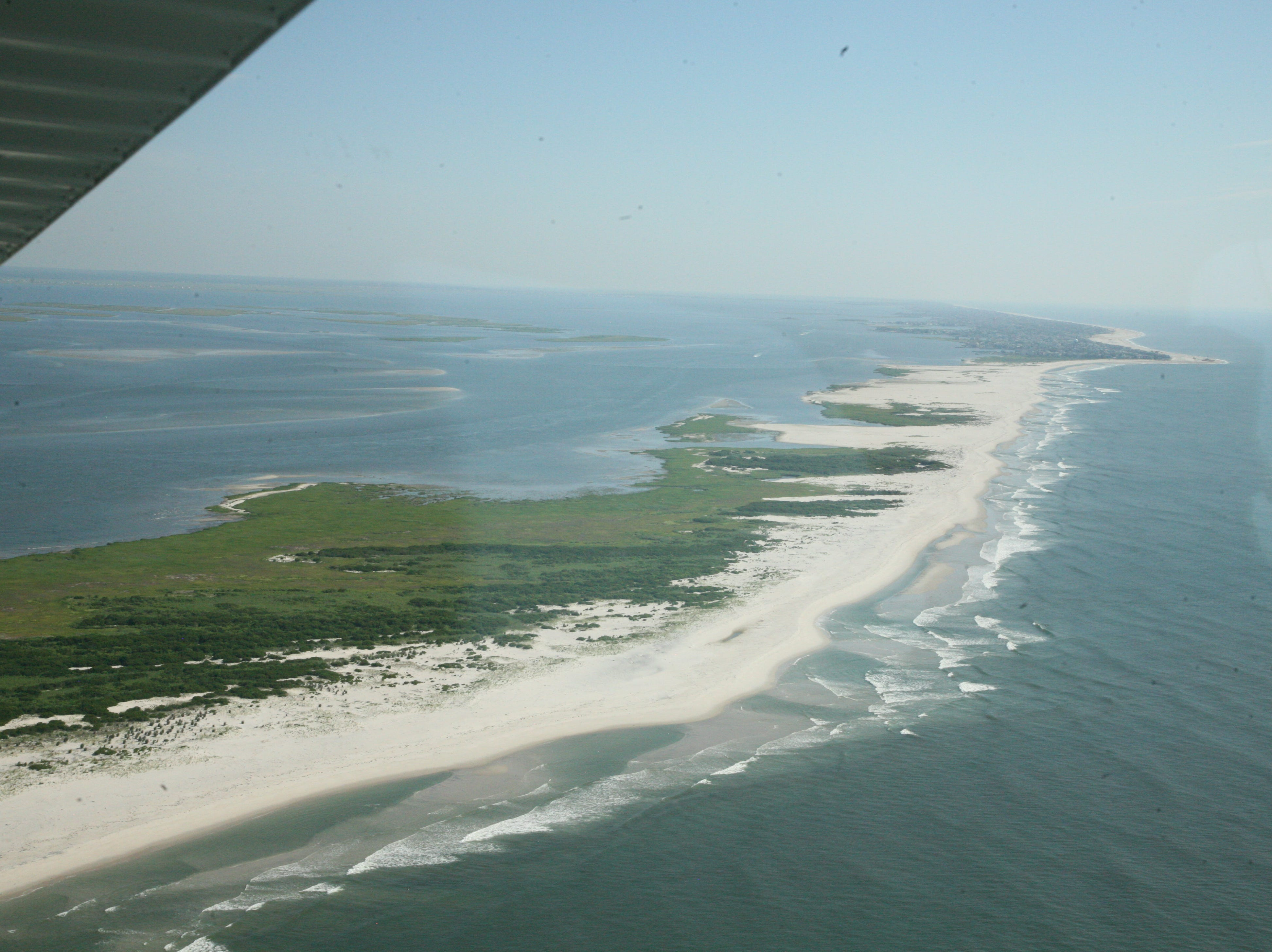 The southern end of Long Beach Island with Holgate and Beach Haven to the north.