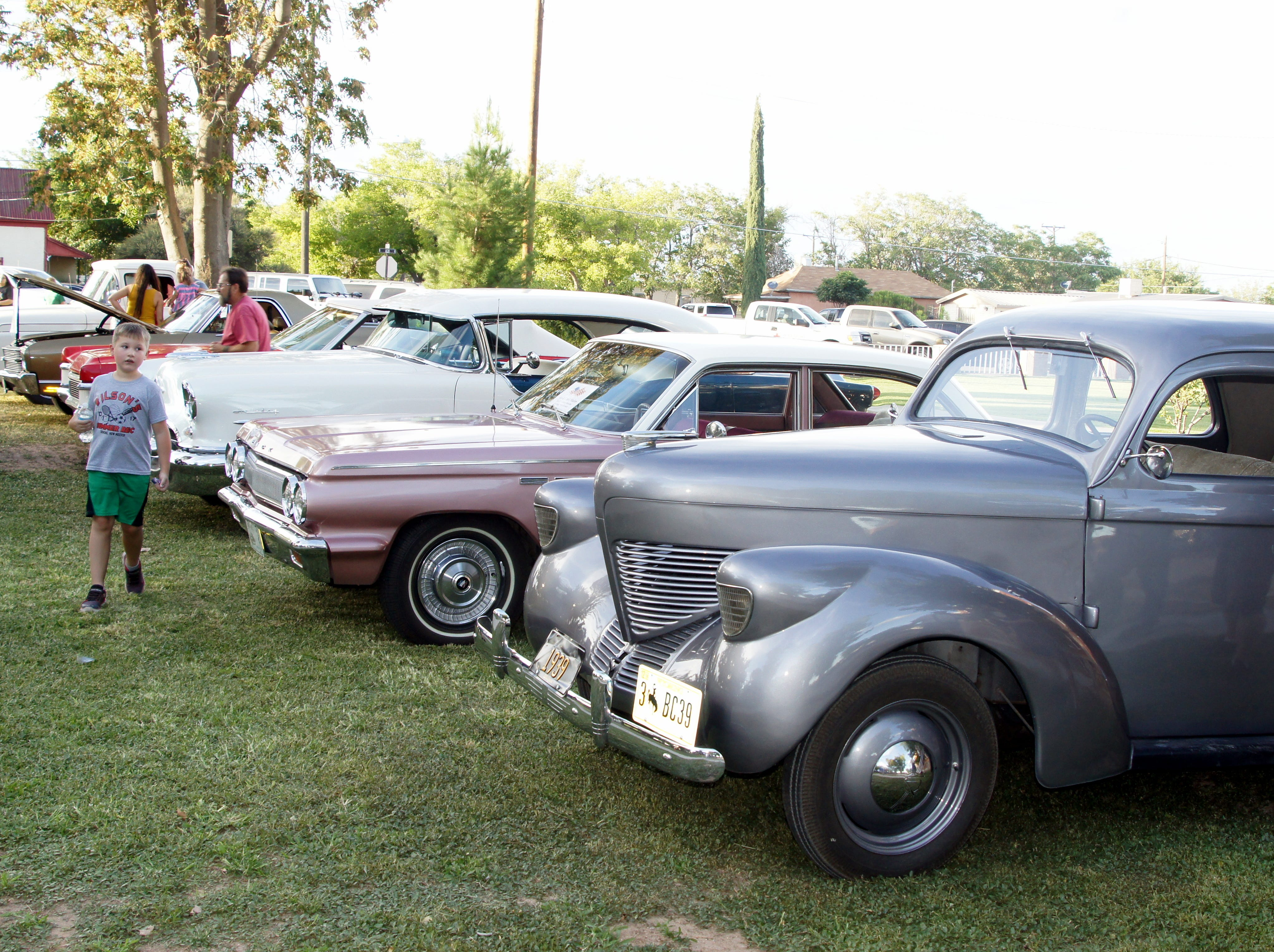 Members of the Desert Classics Car Club brought some of their Detroit steel to the Luna County Courthouse Park to help celebrate the second annual National Night Out in Deming, NM.