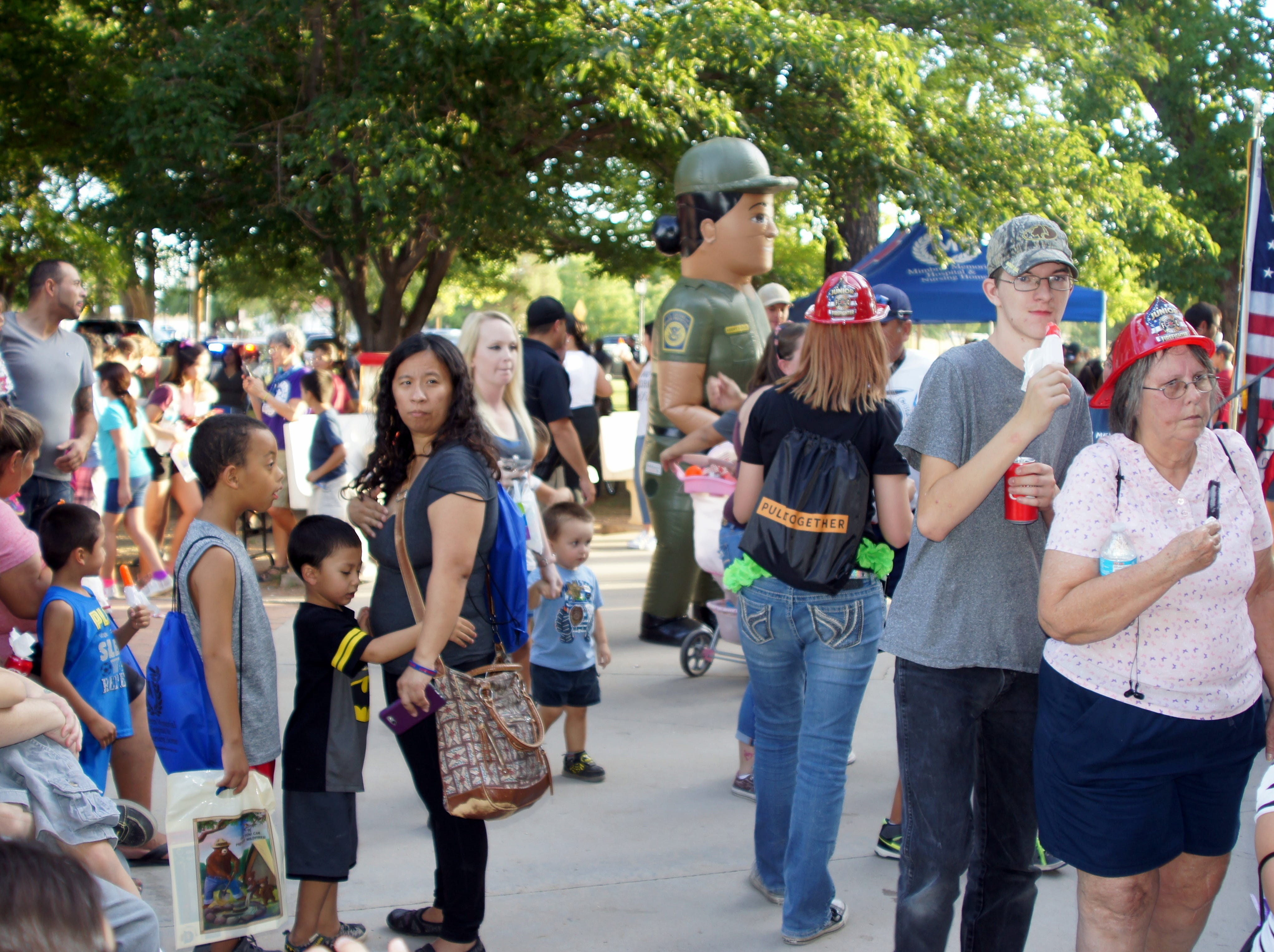 The crowd grew to well over 1,000 during Tuesday's second annual National Night Out at Luna County Courthouse Park in Deming, NM.