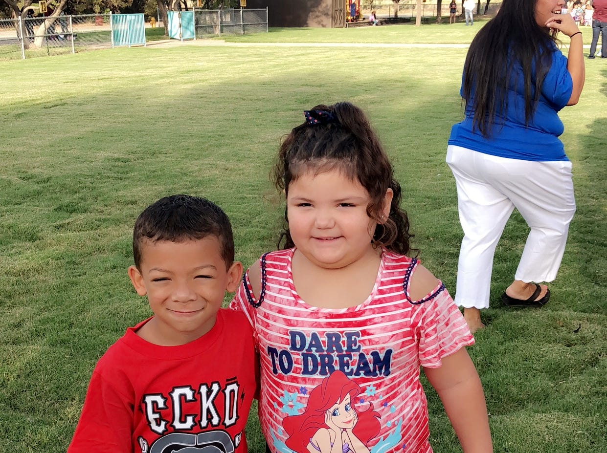 Zaelynn, 5 and Emmanuel, 5.