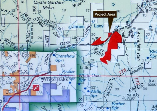 May shows the White Oaks pile burn project area