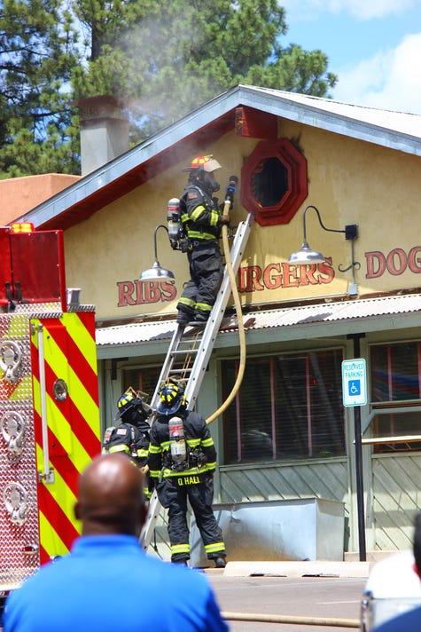 Attic fire at Farley's