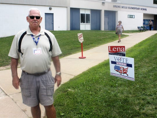 Highland Township resident Richard Tracy, who served as an election official for the first time, voted in favor of Highland Township's police and fire millages.