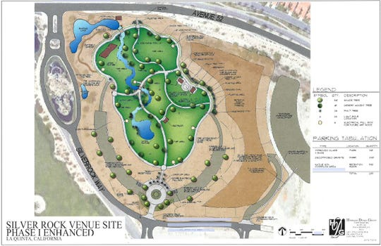 Updated master plan rendering of the SilverRock event site by Hermann Design Group and presented to the La Quinta City Council on Tuesday, Aug. 7, 2018.