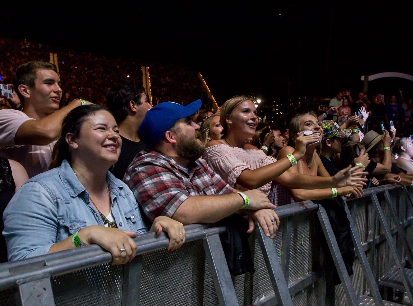 Fans enjoy Imagine Dragons' headlining performance at the Wharf Amphitheater in Orange Beach on Tuesday, August 7, 2018, during the Evolve World Tour.