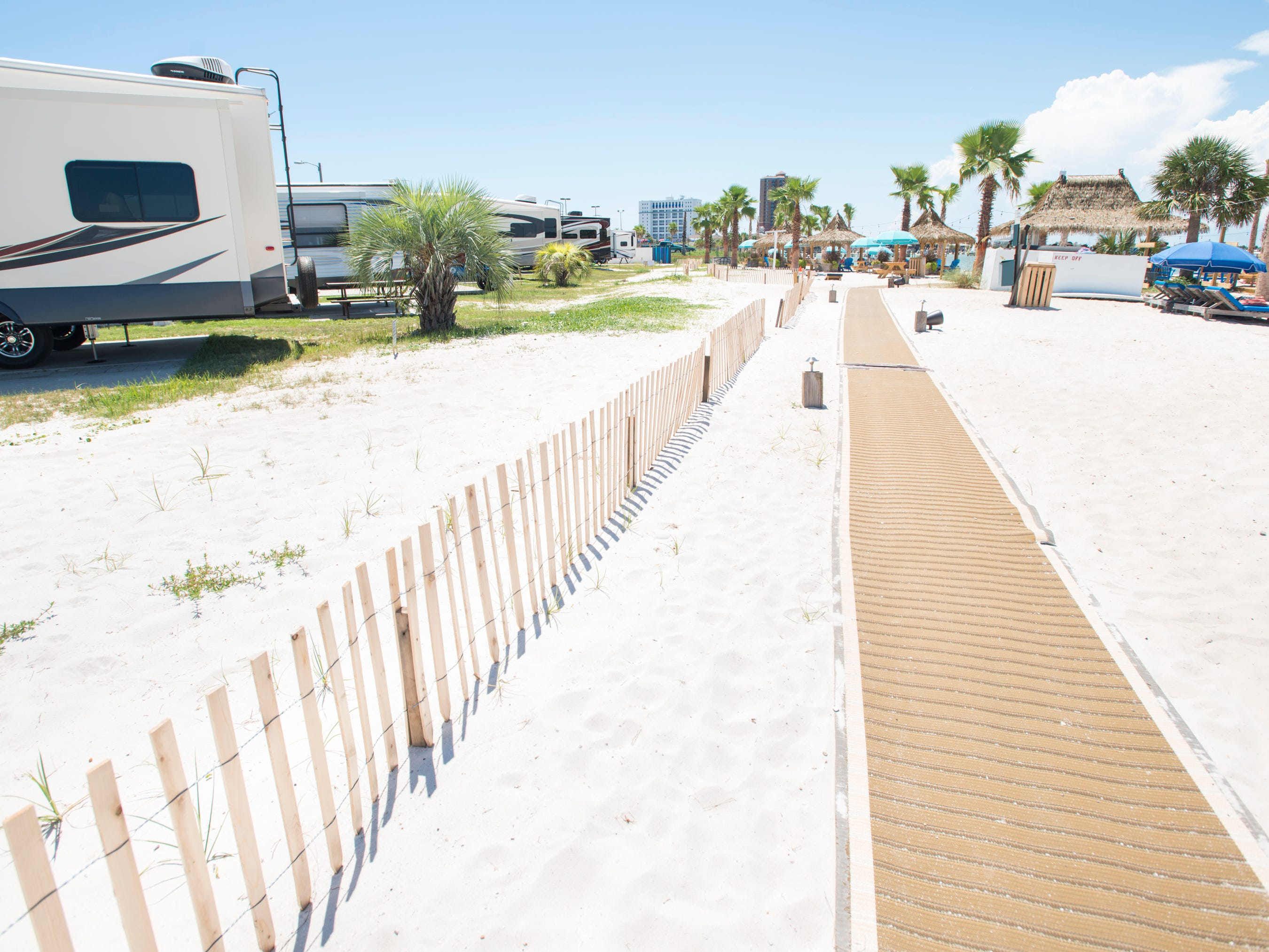 Pensacola Beach RV Resort in Pensacola on Tuesday, August 7, 2018.
