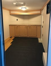 Only the flooring is left to complete in the Emerald Coast Alliance for Breastfeeding Support's mobile trailer.