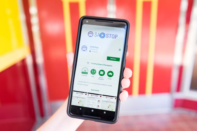 SafeStop, available on iOS and Android, is an app that let's Santa Rosa County parents get real-time access to the district's nearly 200 daily bus routes.