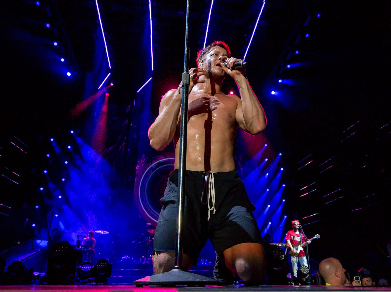 Imagine Dragons headline a near-capacity show at the Wharf Amphitheater in Orange Beach on Tuesday, August 7, 2018, during the Evolve World Tour.