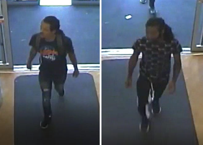 Two suspects in a burglary that occurred on Aug. 5 at the Rite Aid in Gettysburg Borough.
