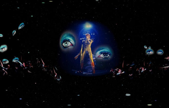 """""""Mick Rock's Ziggy Stardust and the Spiders From Mars"""" is one of three virtual-reality """"films"""" in the Phoenix Art Museum's """"Moonage Virtual Reality"""" exhibit."""