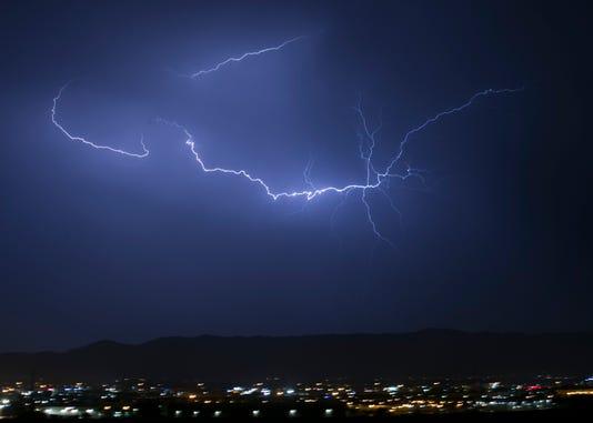 Phoenix weather: Monsoon storm lightning