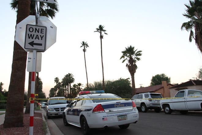 Shooting scene in central Phoenix, Aug. 7, 2018.