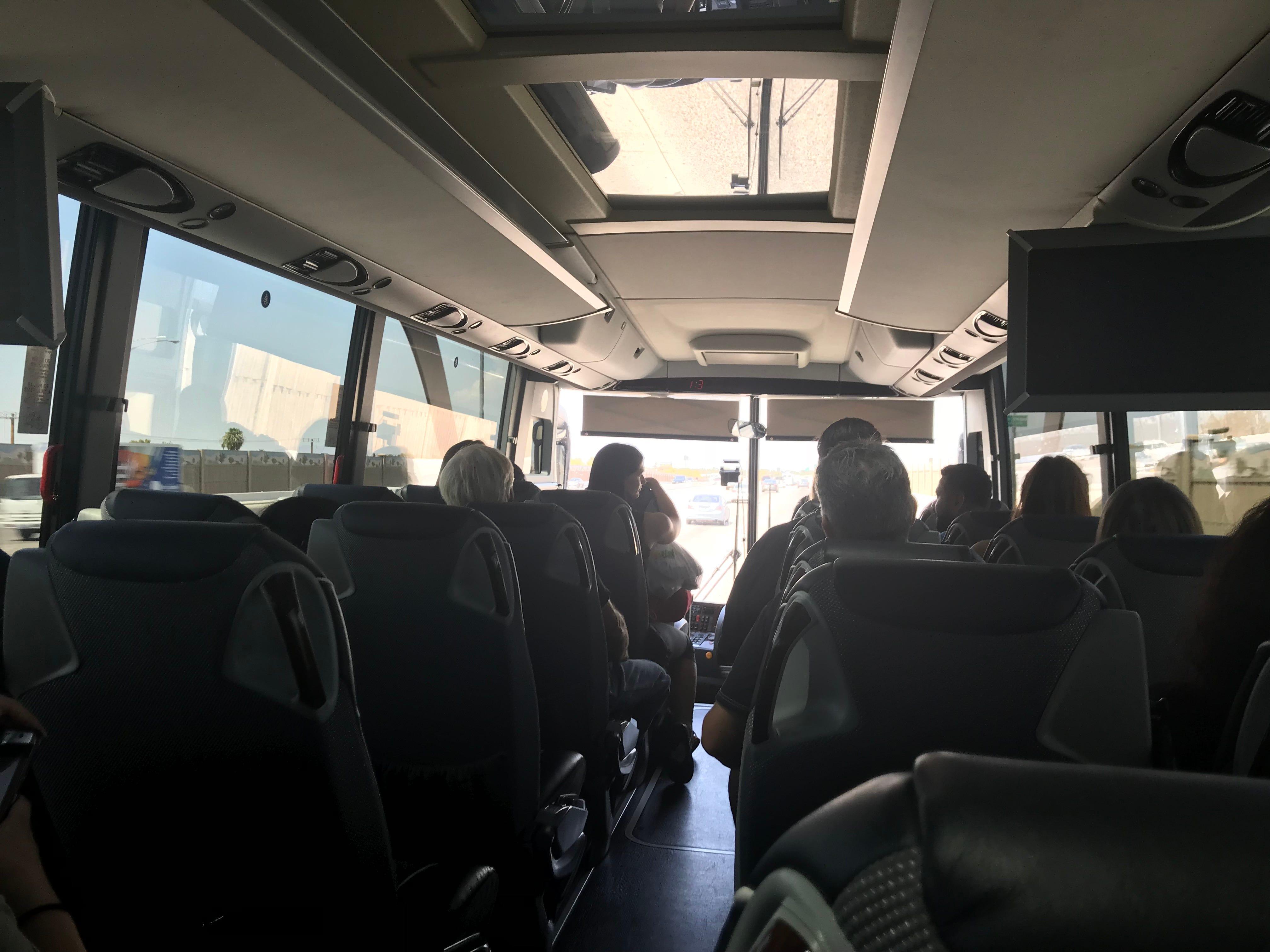 Passengers on a FlixBus ride from Phoenix to Las Vegas.