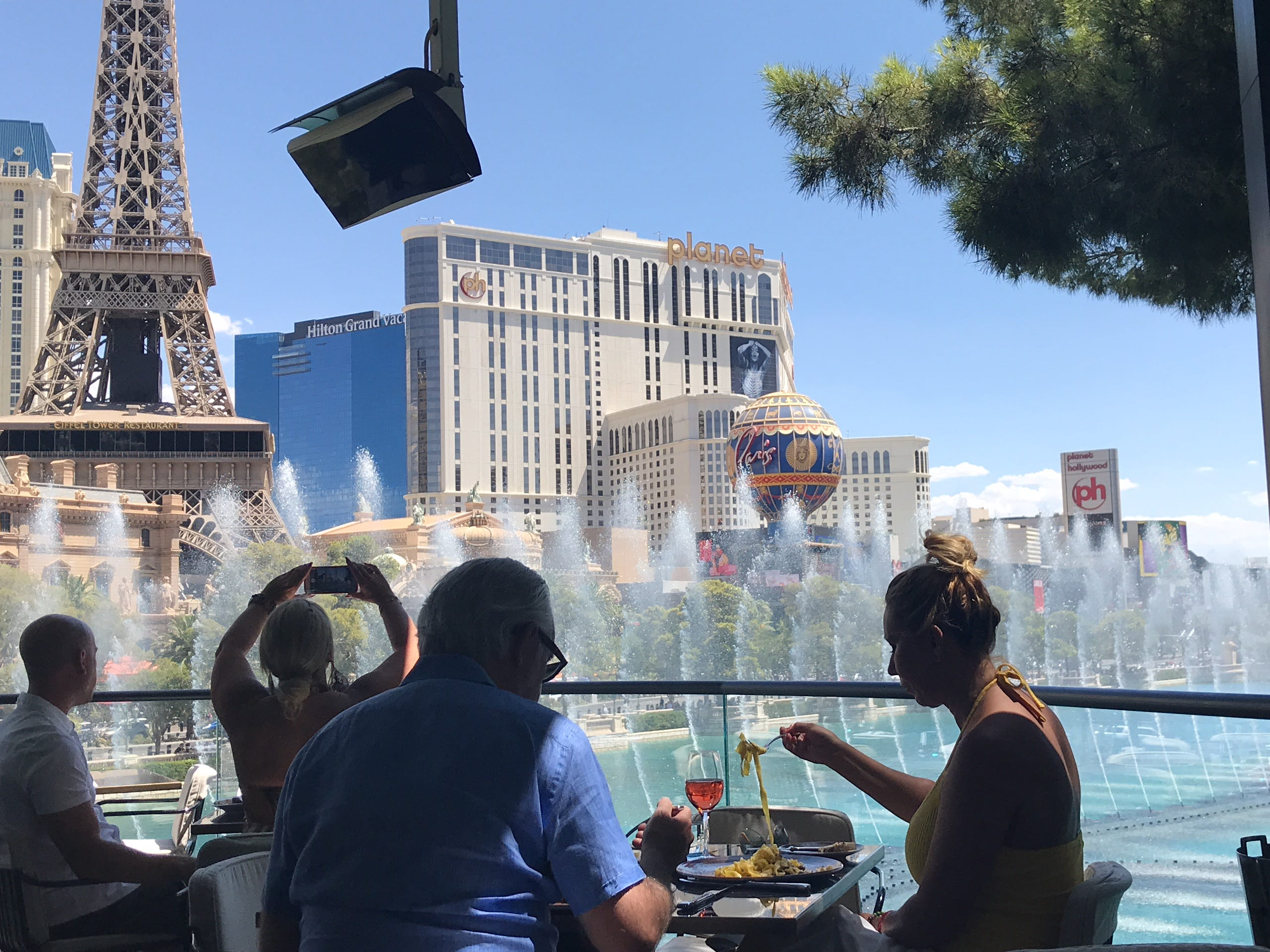 Lunch at the new Spago restaurant at Bellagio comes with a stunning side: views of the dancing Bellagio fountains.