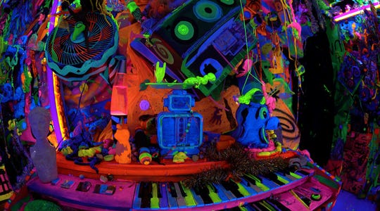 """Kenny Scharf's Cosmic Cavern"" is a VR experience by artist Travis Hutchison."