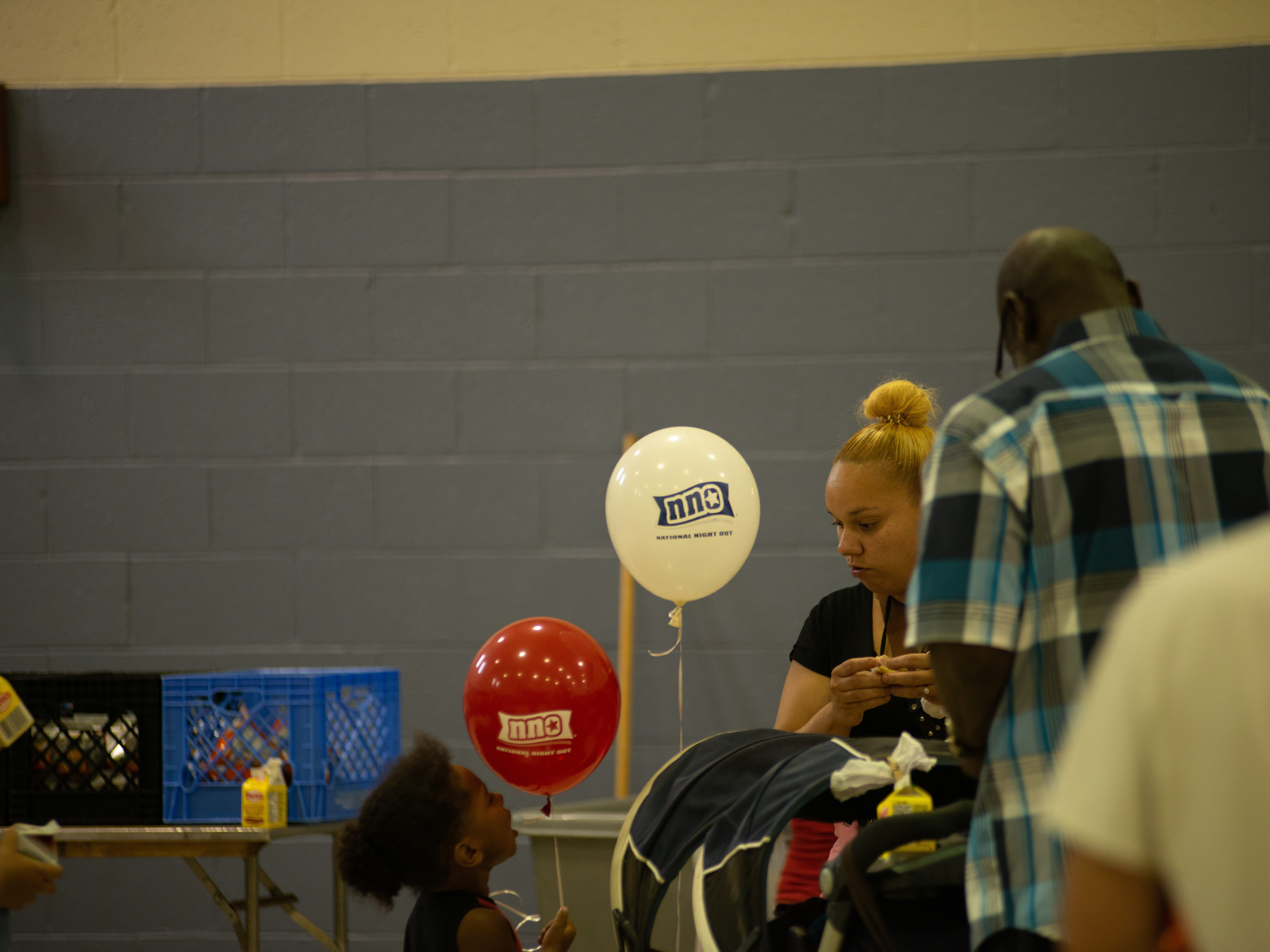 National Night Out events were held at the Salvation Army in Lebanon, at 1031 Guilford Street on Tuesday, Aug. 7, 2018. Events were moved inside due to poor weather.