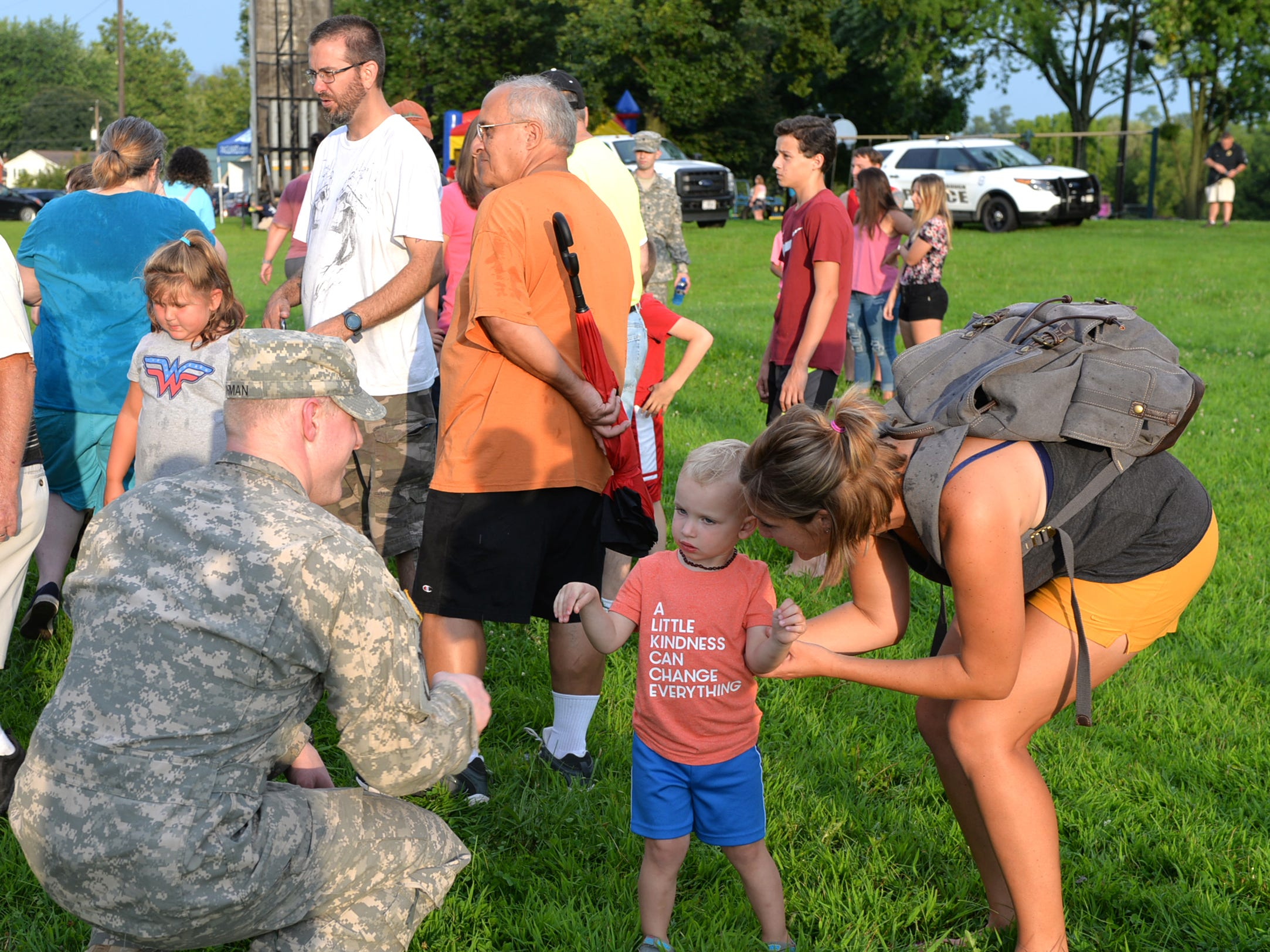 The Cleona Borough Police Department held National Night Out activities, including free food and entertainment, at the Cleona Community Park on Tuesday evening, August 7, 2018.