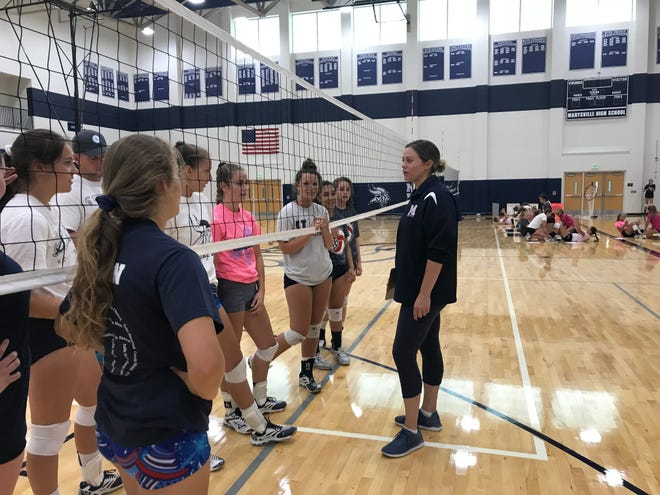 Marysville volleyball practice begins