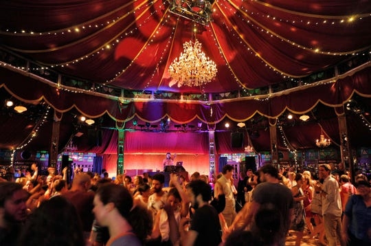 The Spiegeltent venue at Bard College located at Annandale-on-Hudson.