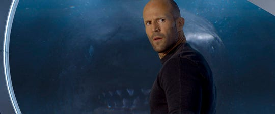"Jason Statham stars in ""The Meg,"" playing at Regal West Manchester Stadium 13, Frank Theatres Queensgate Stadium 13 and R/C Hanover Movies."