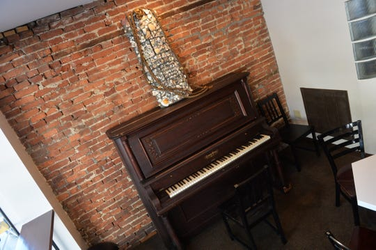 A piano that once was in Central Market now sits inside Cupajoe coffee shop in York.