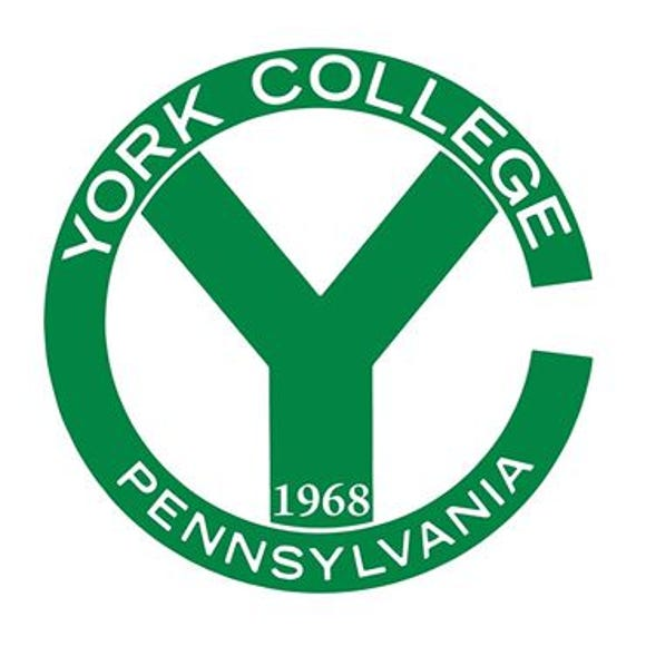 York College's first logo as a college. Previously, it was York Junior College.