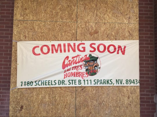 Cantina Los Tres Hombres is scheduled to open in the old Jazz Kitchen space in the Outlets at Legends.