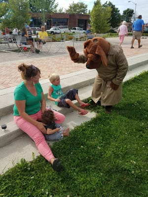 McGruff attended Richmond Farmers Market on Tuesday as part of National Night Out festivities for Richmond Police Department.