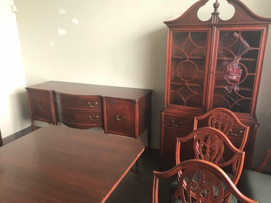 This antique dining set is up for grabs at the Avon sale at 5580 E. Avon Road.