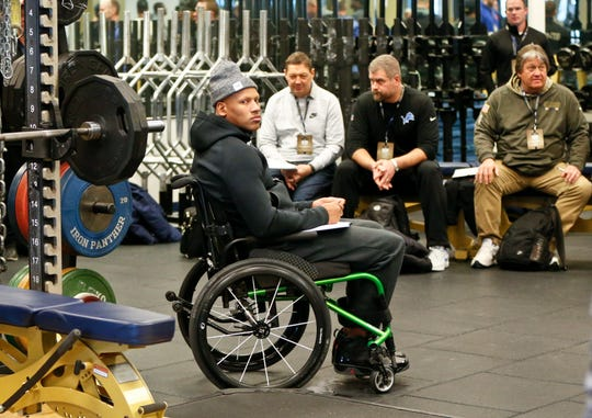 Pittsburgh Steelers linebacker Ryan Shazier was temporarily paralyzed after a head-first tackle last season. He has since recovered and is walking with a cane.