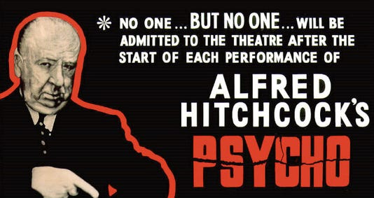 Psycho image with Alfred Hitchcock