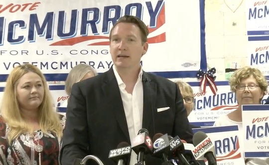 Grand Island Town Supervisor Nate McMurray is running against Rep. Chris Collins, R-Clarence, in New York's 27th congressional district.