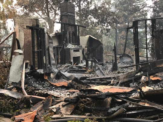 A home in the Sunset Terrace neighborhood of Redding was one of more than 1,000 homes destroyed in the Carr Fire.