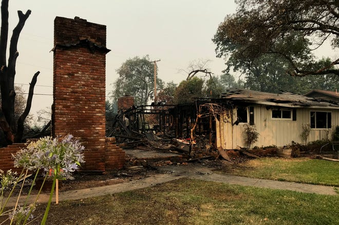 The Carr Fire has destroyed more than 1,000 homes. This home is in the Sunset Terrace neighborhood in Redding.