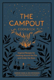The Campout Cookbook teaches readers ambitious recipes for sitting around a fire.